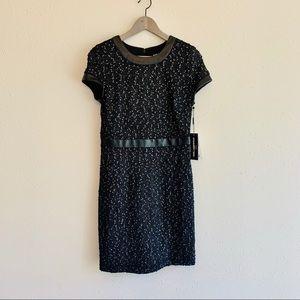 Karl Lagerfeld Tweed Mini Black Dress/Sz:4/NWT
